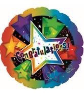 "17"" Congratulations 3-D Stars N Balloon"