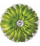 """17"""" Green Gerbera Flower Foil Balloon"""