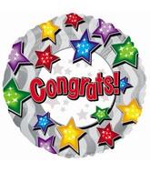 "9"" Airfill Congrats Stars Stars Balloon"
