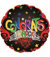 """24"""" Congrats You Rock Balloon"""