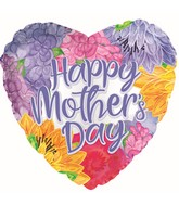 "17"" Happy Mother's Day Lavender Font Foil Balloon"