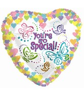 "18"" You're Special Pastel Butterfly Heart"