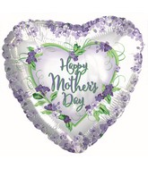 "17"" Happy Mother's Day Violets and Greens Balloon"