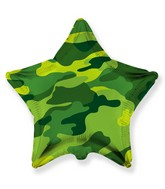 """18"""" Star Shaped Military Camouflage Foil Balloon"""
