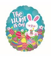"""20"""" The Hunt Is On Easter Foil Balloon"""