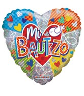 """18"""" Mi Bautizo Colorido Foil Balloon"""