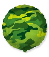 """18"""" Round Circle Shaped Military Camouflage Foil Balloon"""