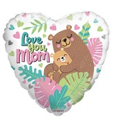 "36"" Love You Mom Bears Foil Balloon"