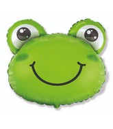 "27"" Frog Head Foil Balloon"