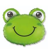 "27"" Frog Head Foil Balloon"