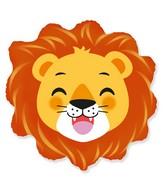 """23"""" Lion Head Foil Balloon"""