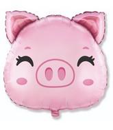 """24"""" Pig Head Foil Balloon"""