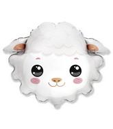 """30"""" Sheep Head Foil Balloon"""