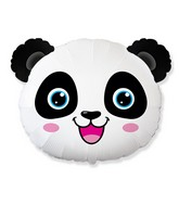 "25"" Panda Bear Head Foil Balloon"