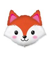 """25"""" Fox Head Foil Balloon"""