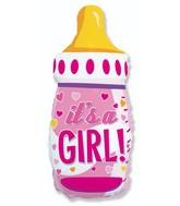 Bottle Girl Foil Balloon