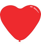 """11"""" Standard Red Decomex Heart Shaped Latex Balloons (100 Per Bag)"""