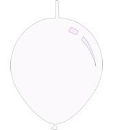 "11"" Standard White Decomex Linking Latex Balloons (100 Per Bag)"