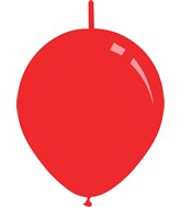 """11"""" Standard Red Decomex Linking Latex Balloons (100 Per Bag)"""