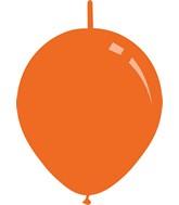 "11"" Standard Orange Decomex Linking Latex Balloons (100 Per Bag)"