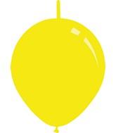 "6"" Standard Yellow Decomex Linking Latex Balloons (100 Per Bag)"