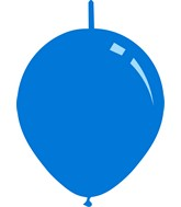 "11"" Standard Blue Decomex Linking Latex Balloons (100 Per Bag)"