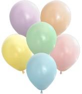 "12"" Kalisan Latex Balloons Pastel Matte Macaroon Assortment (50 Per Bag)"