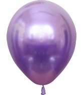 "12"" Kalisan Latex Balloons Mirror Violet (50 Per Bag)"