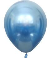 "12"" Kalisan Latex Balloons Mirror Blue (50 Per Bag)"