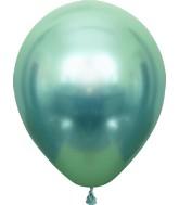 "12"" Kalisan Latex Balloons Mirror Green (50 Per Bag)"