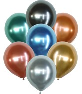 "18"" Kalisan Latex Balloons Mirror Assorted (25 Per Bag)"