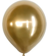 "18"" Kalisan Latex Balloons Mirror Gold (25 Per Bag)"