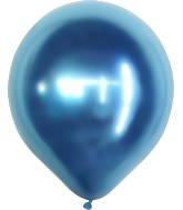 "18"" Kalisan Latex Balloons Mirror Blue (25 Per Bag)"