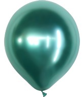 "18"" Kalisan Latex Balloons Mirror Green (25 Per Bag)"