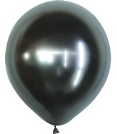 "18"" Kalisan Latex Balloons Mirror Space Grey (25 Per Bag)"