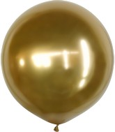 "24"" Kalisan Latex Balloons Mirror Gold (5 Per Bag)"
