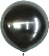 "24"" Kalisan Latex Balloons Mirror Space Grey (5 Per Bag)"