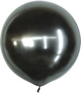 "36"" Kalisan Latex Balloons Mirror Space Grey (2 Per Bag)"