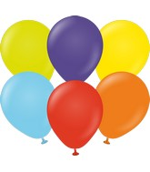 "5"" Kalisan Latex Balloons Standard Rainbow Assortment (50 Per Bag)"