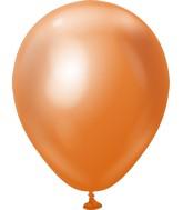 "5"" Kalisan Latex Balloons Mirror Copper (50 Per Bag)"