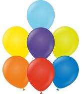 "12"" Kalisan Latex Balloons Standard Rainbow Assortment (50 Per Bag)"
