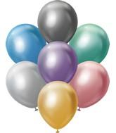 "12"" Kalisan Latex Balloons Mirror Assorted (50 Per Bag)"