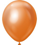 "12"" Kalisan Latex Balloons Mirror Copper (50 Per Bag)"