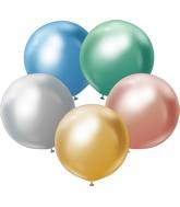 "24"" Kalisan Latex Balloons Mirror Assorted (5 Per Bag)"