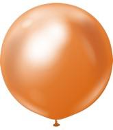 "24"" Kalisan Latex Balloons Mirror Copper (5 Per Bag)"