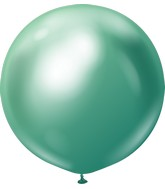 "36"" Kalisan Latex Balloons Mirror Green (2 Per Bag)"