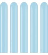 260K Kalisan Twisting Latex Balloons Pastel Matte Macaroon Blue (50 Per Bag)