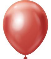 "18"" Kalisan Latex Balloons Mirror Red (25 Per Bag)"