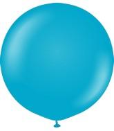 "36"" Kalisan Latex Balloons Retro Blue Glass (2 Per Bag)"