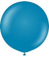 "24"" Kalisan Latex Balloons Retro Deep Blue (5 Per Bag)"